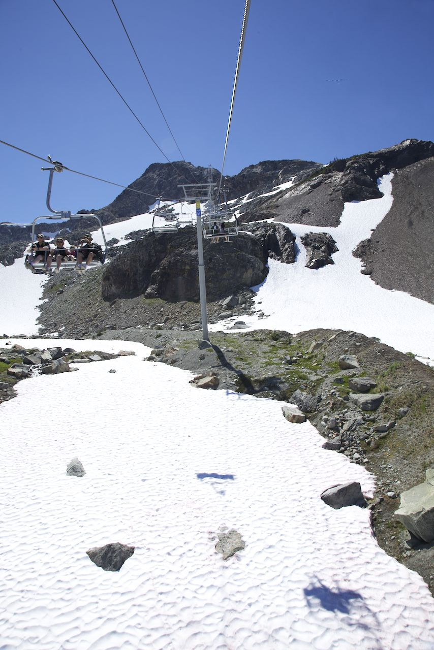 We've done the ride up the Peak Chair many times, but never in such beautiful weather!