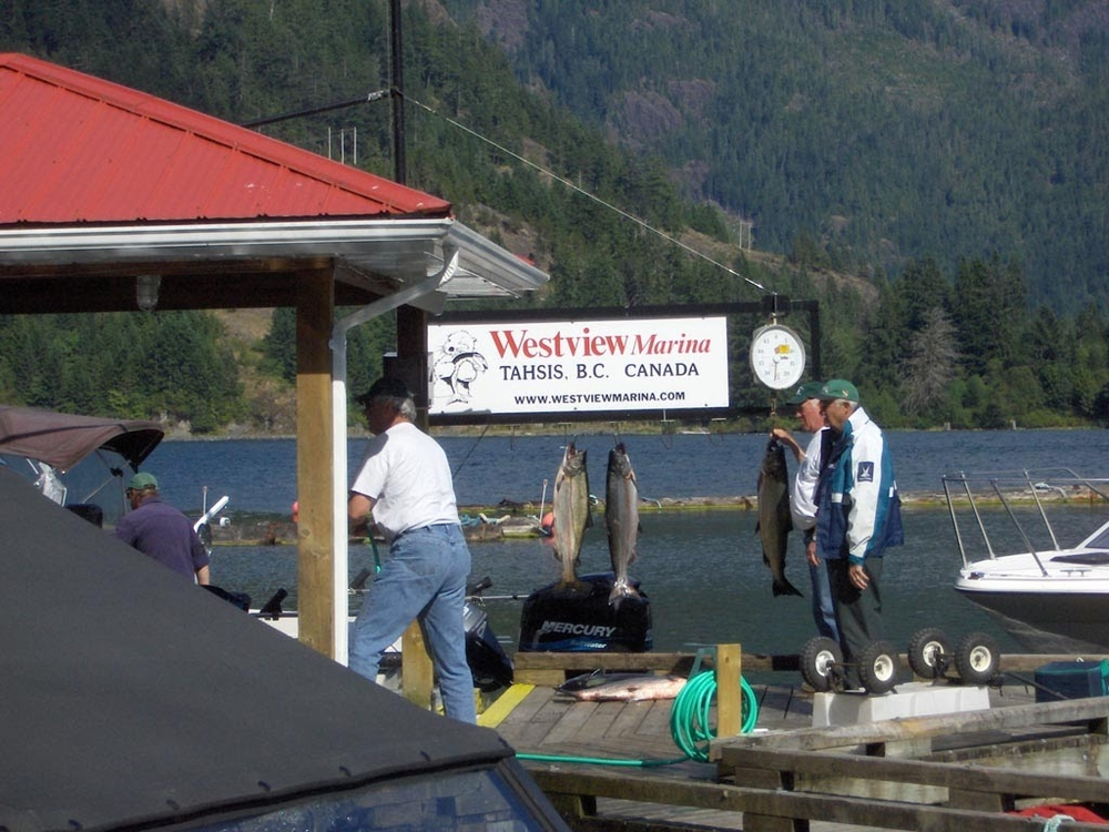 The marina at Tahsis.