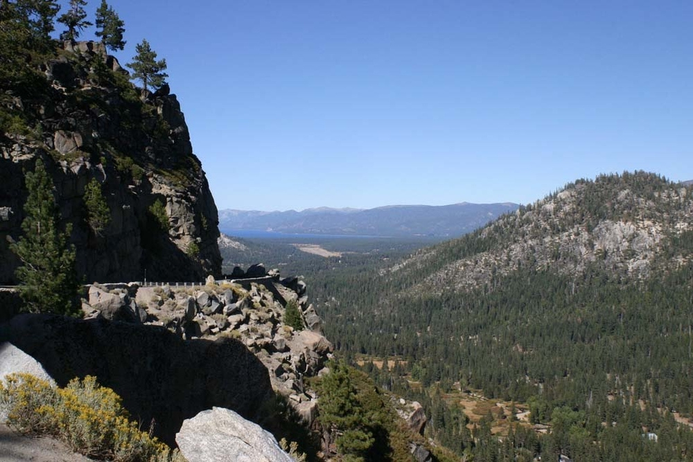 The road to Tahoe is like the road to Whistler used to be - scary in places!