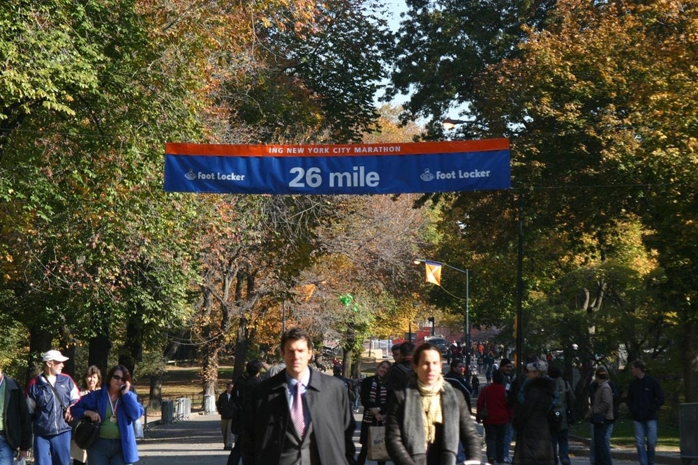 "The ""Mile 26"" banner - one of the happiest sights of my life..."