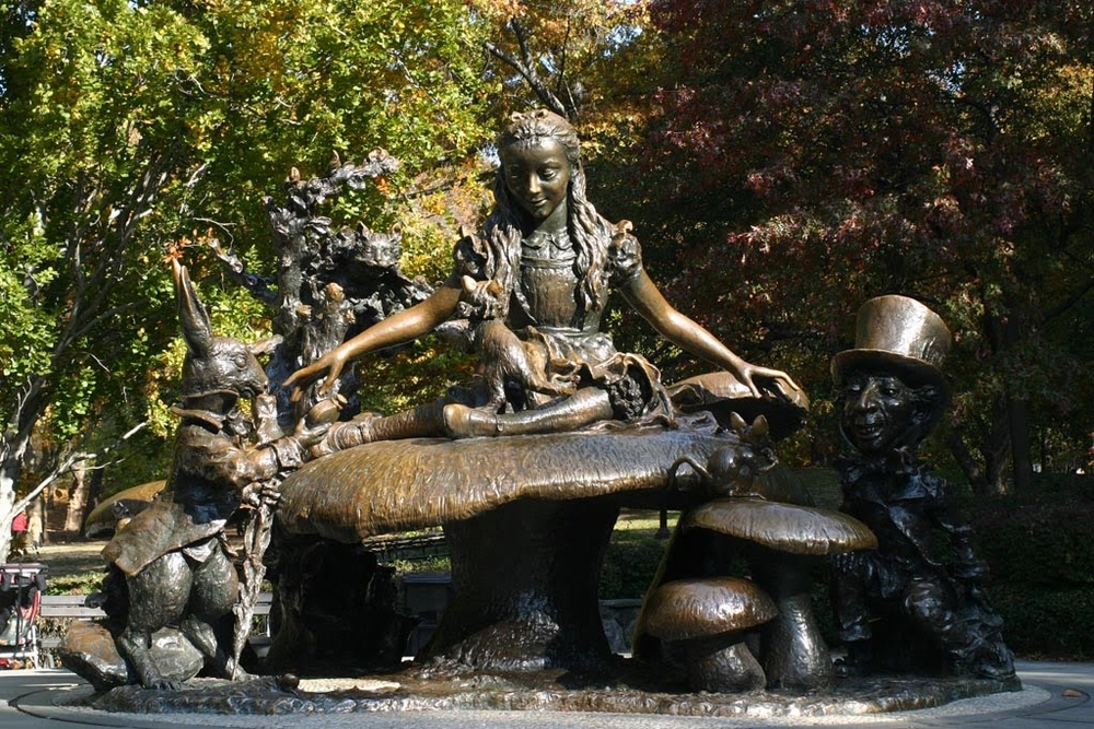 The Alice in Wonderland statue in Central Park.