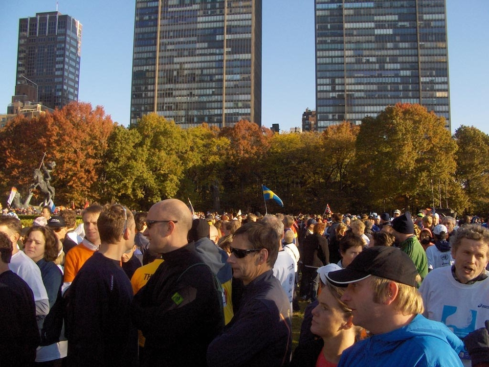 The scene before the Friendship Run - the sea of people during the awards ceremony