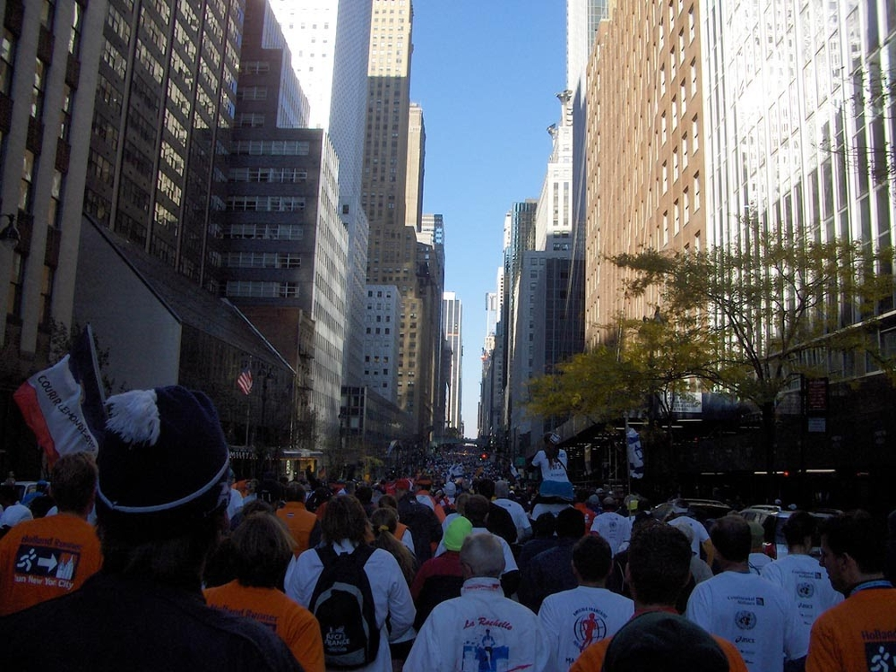 The sea of people at the start of the International Friendship Run.