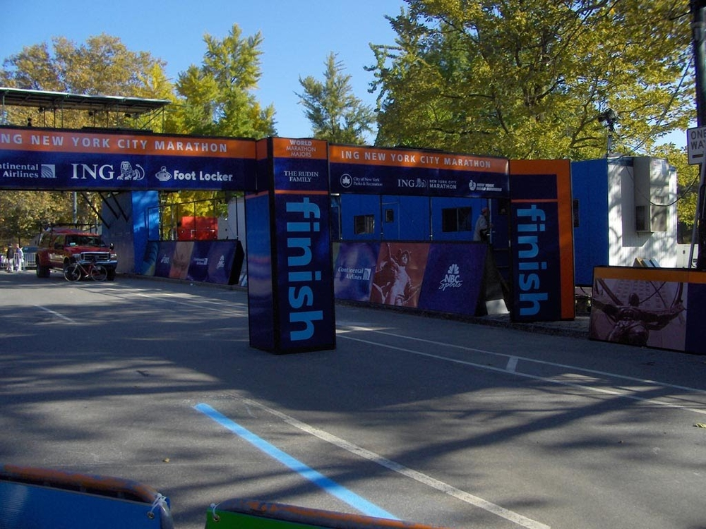 The finish line - the day before the race.