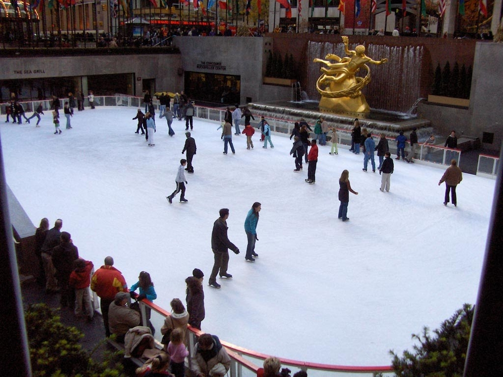 The ice rink at Rockefeller Center. One day I need to go for a skate there. I hear the line ups are a bit out of control.
