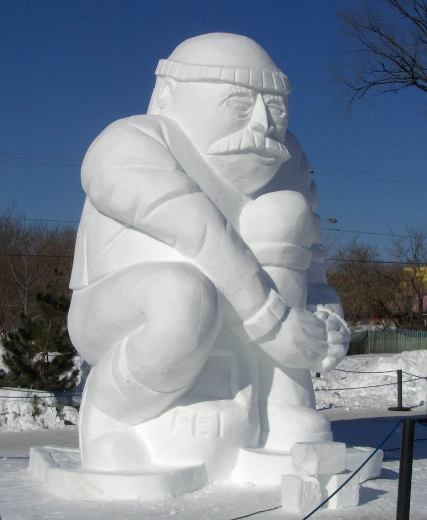 Snow sculptures in Hull