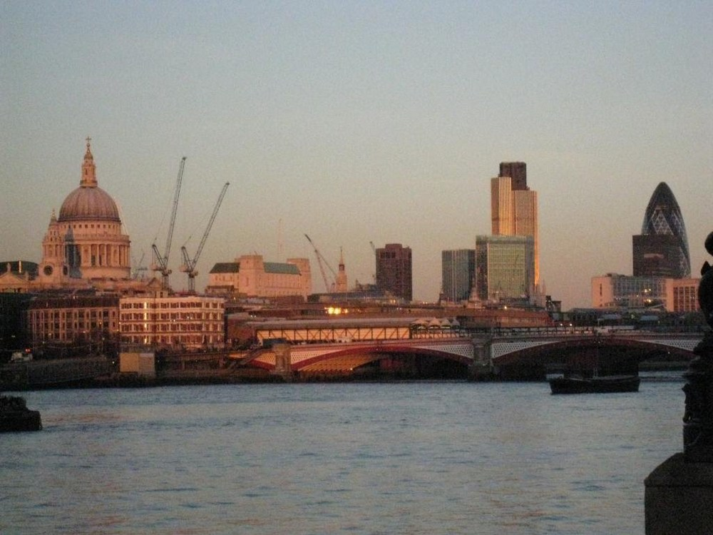 "St. Paul's and ""the Gherkin"" (far right)"