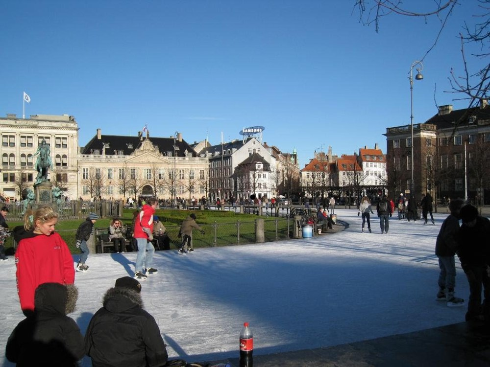 Skating rink in one of the city parks