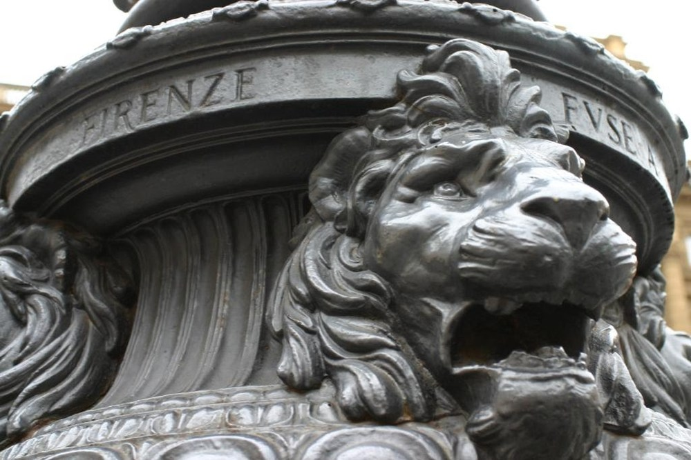 Detail of a lamp post in the piazza outside my hotel.