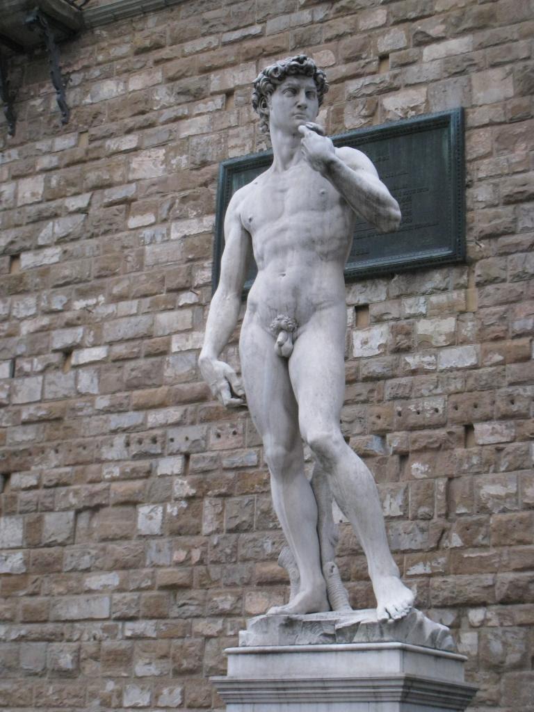 Michelangelo's David (replica, on the site of the original)