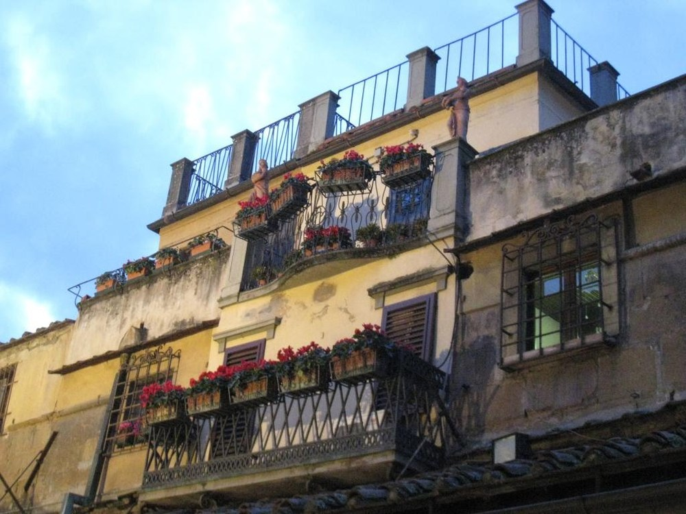 Detail of a shop/residence on the Ponte Vecchio