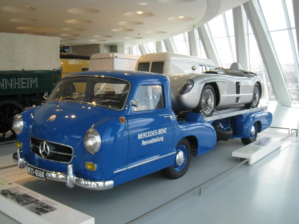 Mercedes original race car transport;