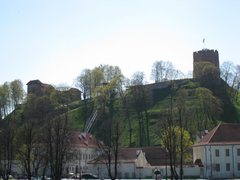 The old castle on the hill in Vilnius.