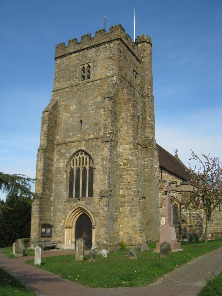 Church near the town center in Battle