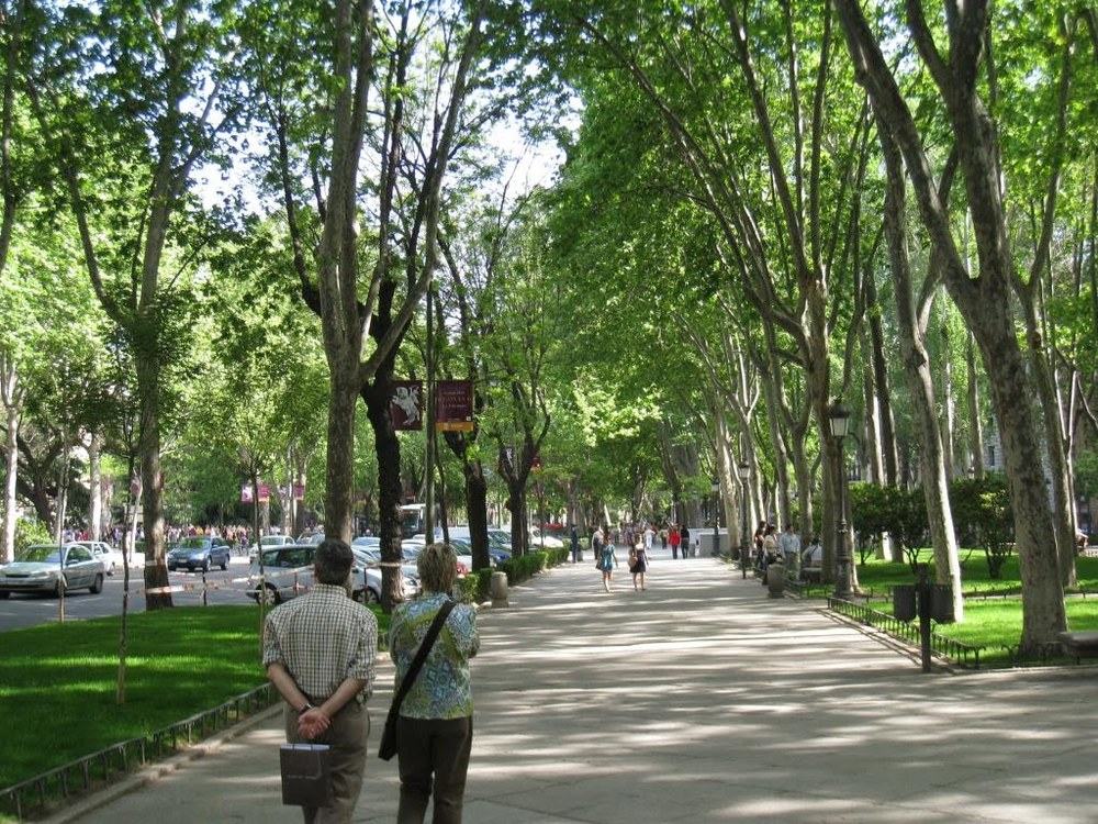 Boulevard on the Paseo del Prado