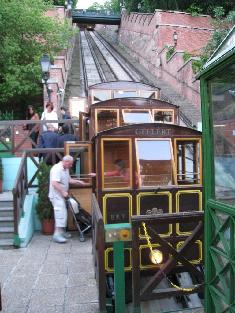 The funicular up to the Castle