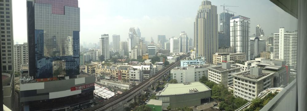 The view from my hotel room in Bangkok.