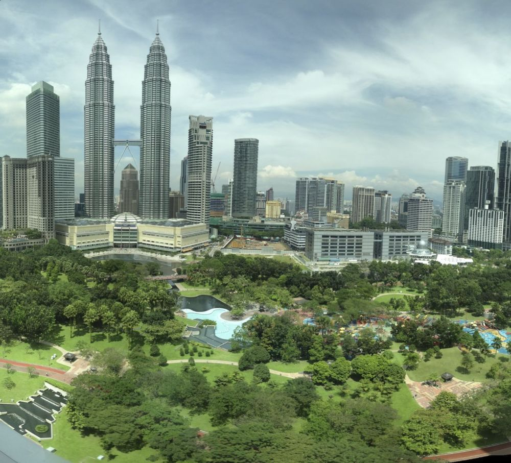 The view out the window of my hotel room in KL.