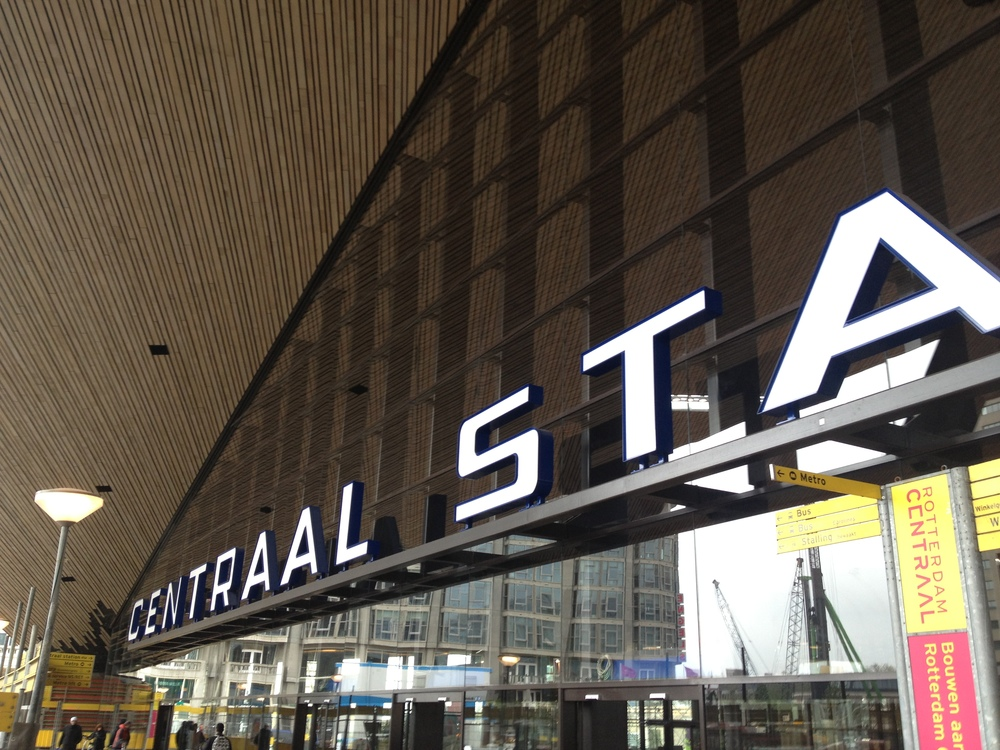 The Rotterdam central train station