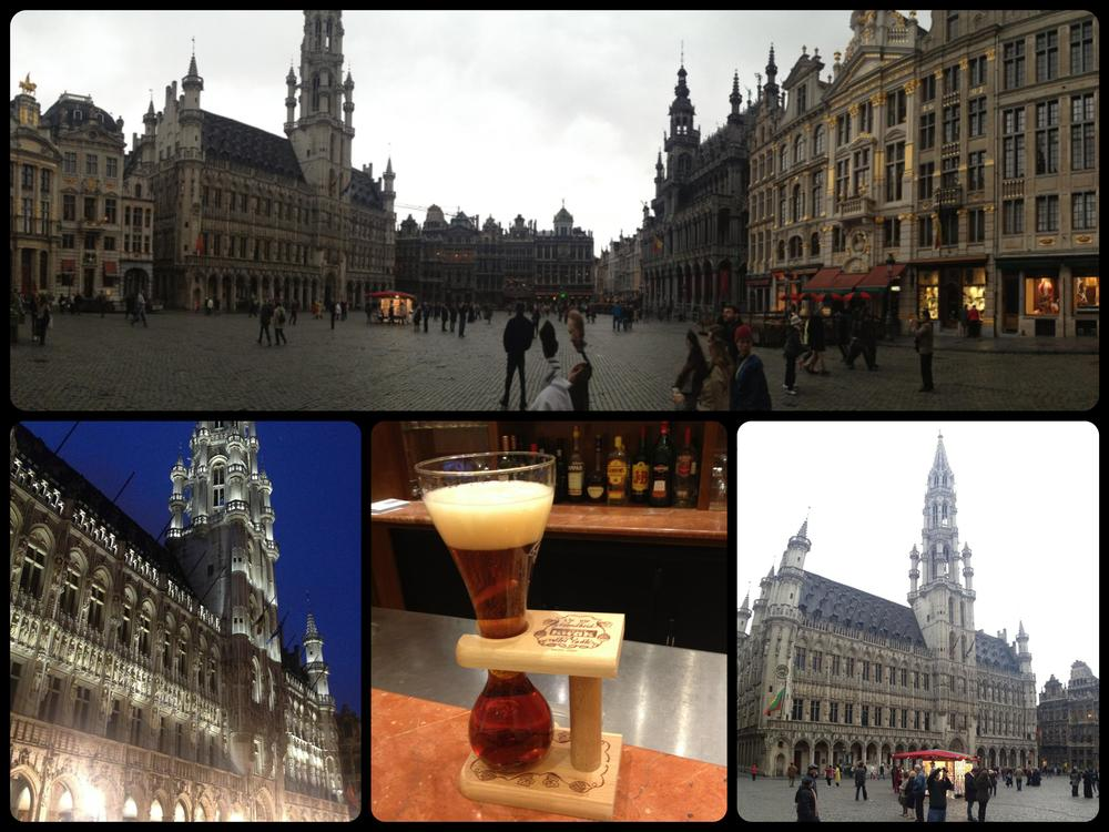 A collage of some images I took with my iPhone in the Grande Place in Brussels.