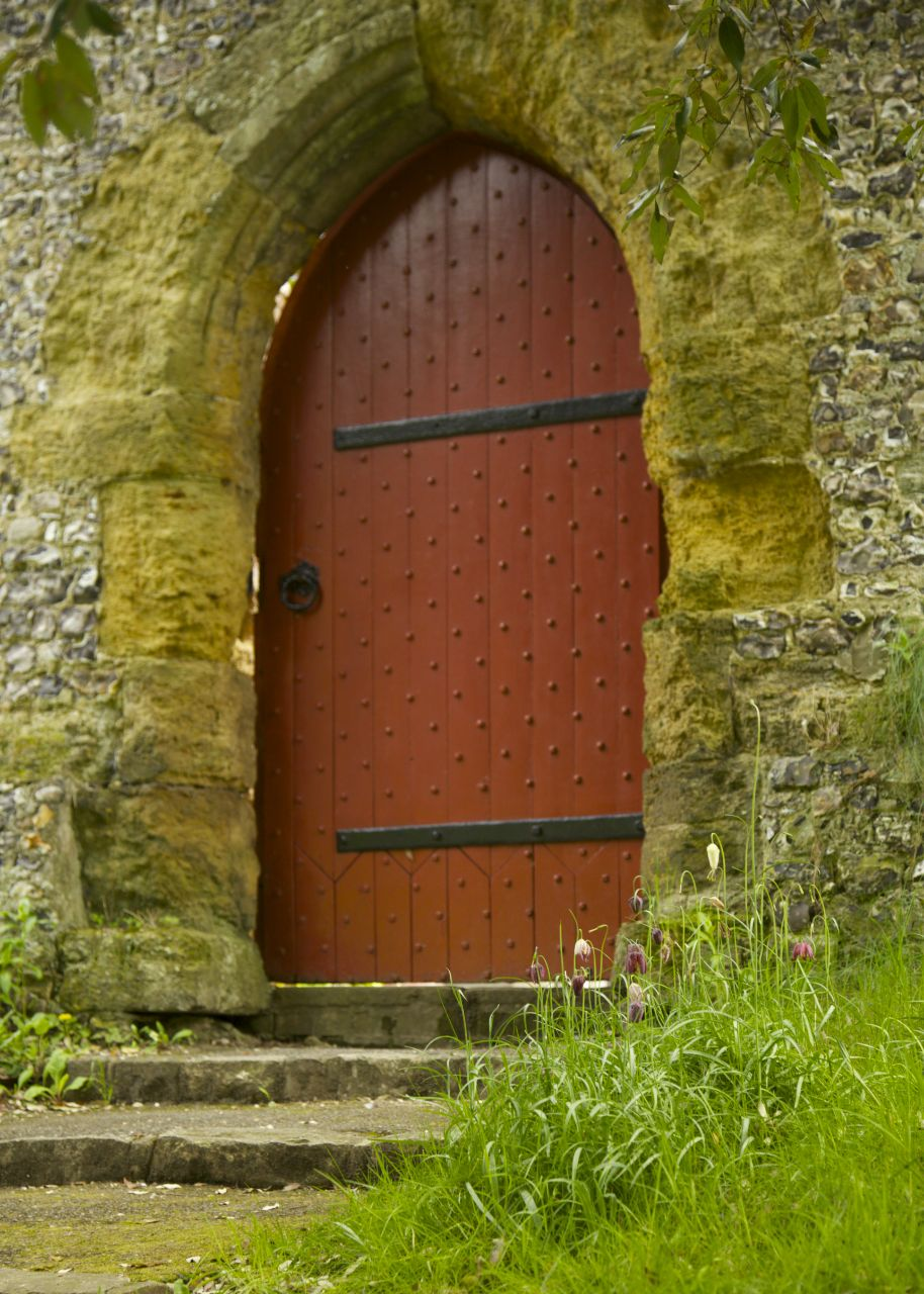 The walled gardens had a number of great doors leading into it, most of which were closed off.
