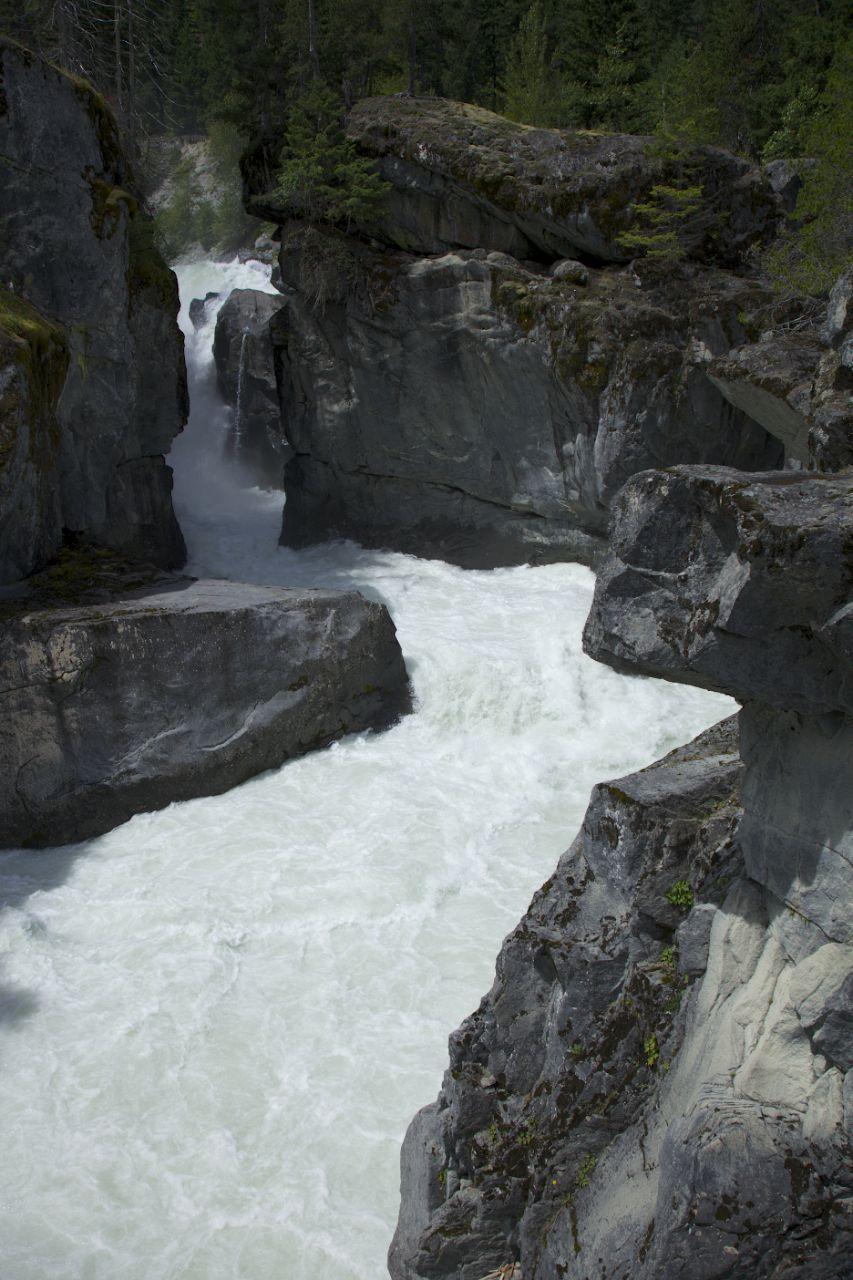 The top half of Nairn Falls, tumbling through the canyon.