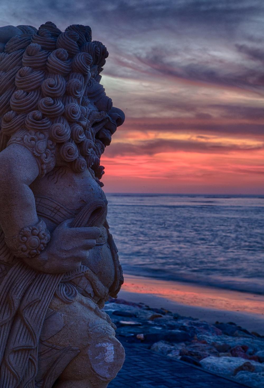 Bali  statue sunset HDR.jpg