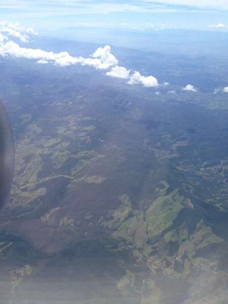 Some bad pictures from the plane. Coming in over Brazil.