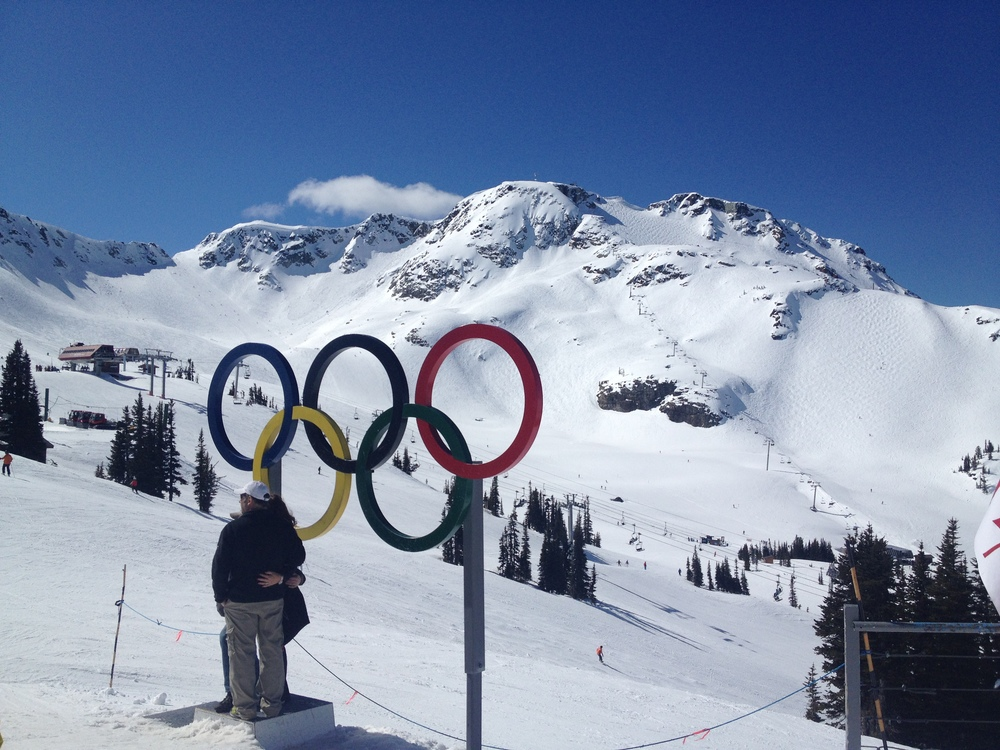 It was an amazing day at the top of Whistler, with nothing but blue sky as far as the eye could see.