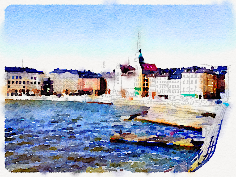 And the Waterlogue version of the picture. I love this app!