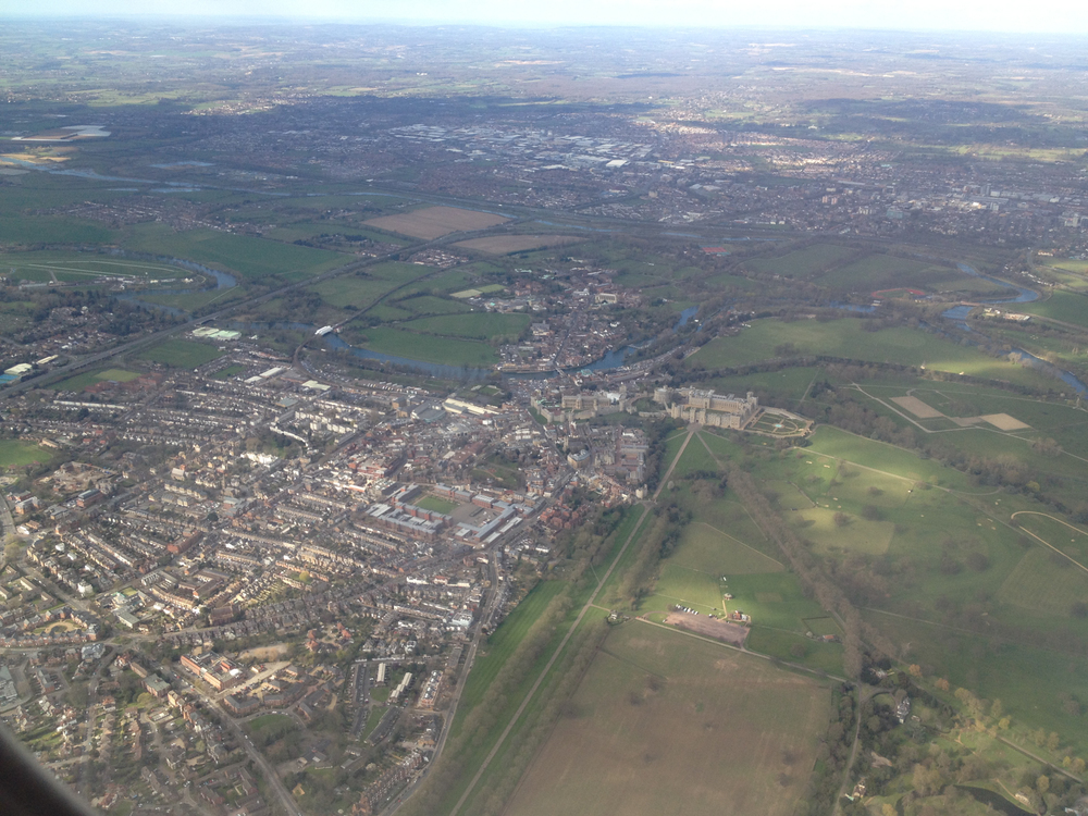 Just after take-off, I noticed what I think is Windsor Castle as we climbed out from Heathrow.