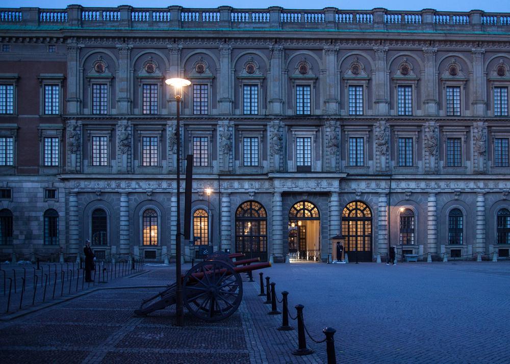 The Royal Palace, at dusk