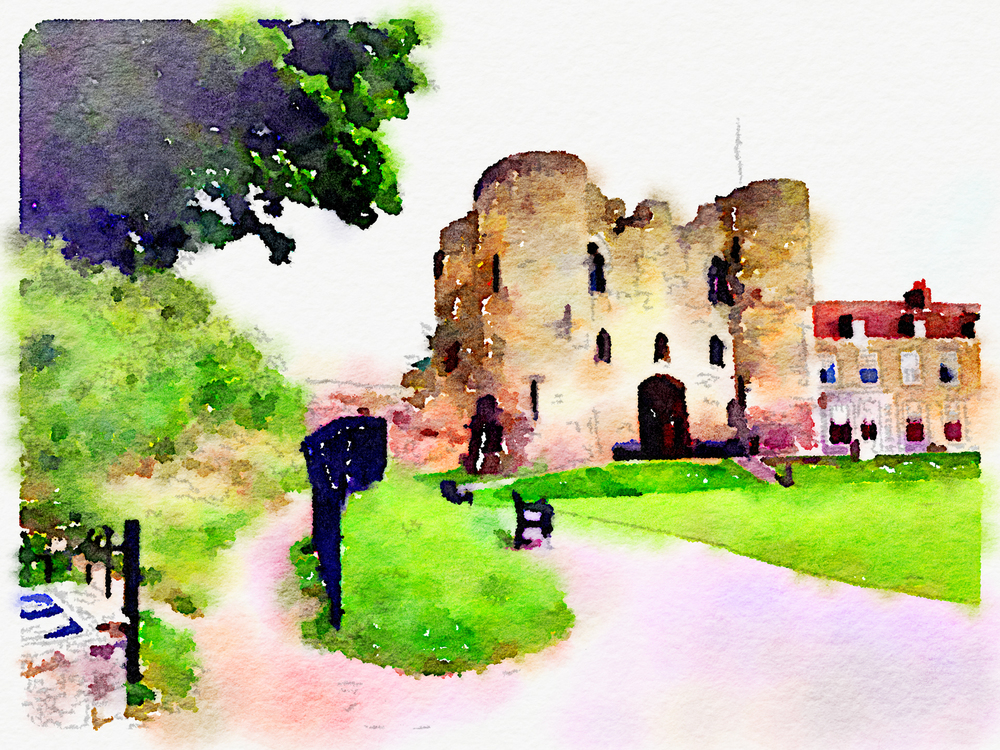 The castle in Tonbridge