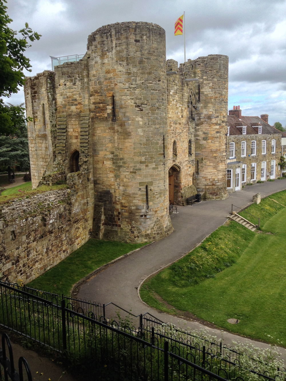 The remains of the castle in Tonbridge
