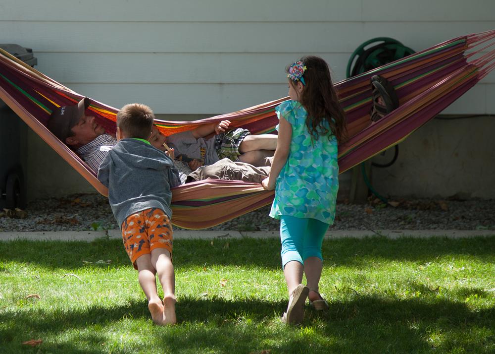 The hammock was a popular spot.
