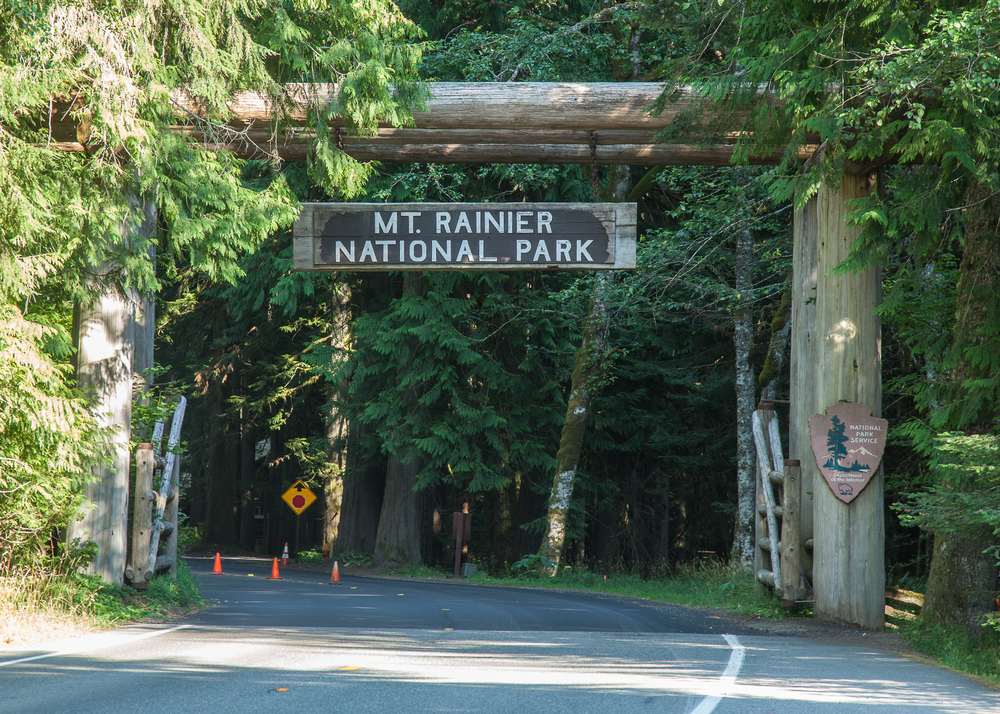 The main entrance to the park, where we were spending the next few days.