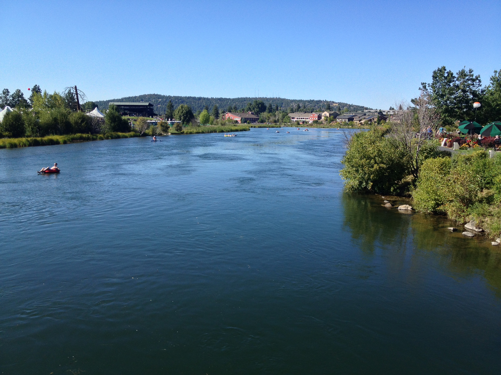 The Deschutes River runs right through the center of town (and I'm sure must have something to do with the name). It adds such a great feel to the town. This was taken from a bridge right near the Old Mill District, which at one time housed the largest pine mill in the country.