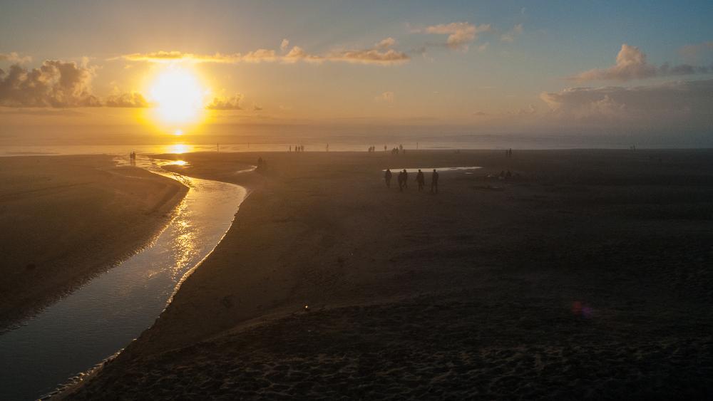 Sunset over Nye Beach.