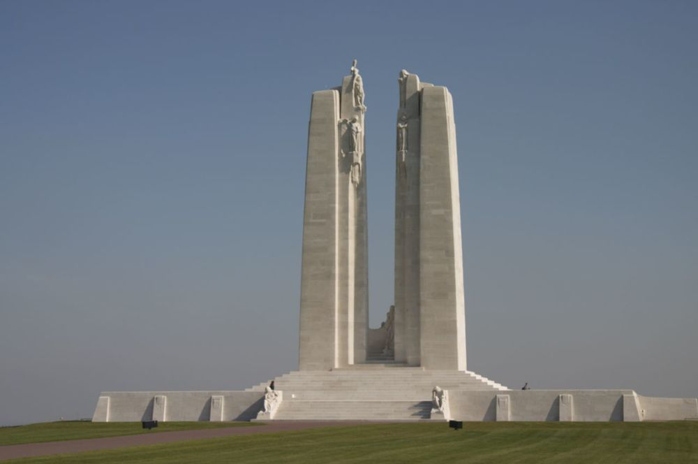 The Canadian Memorial at Vimy Ridge.