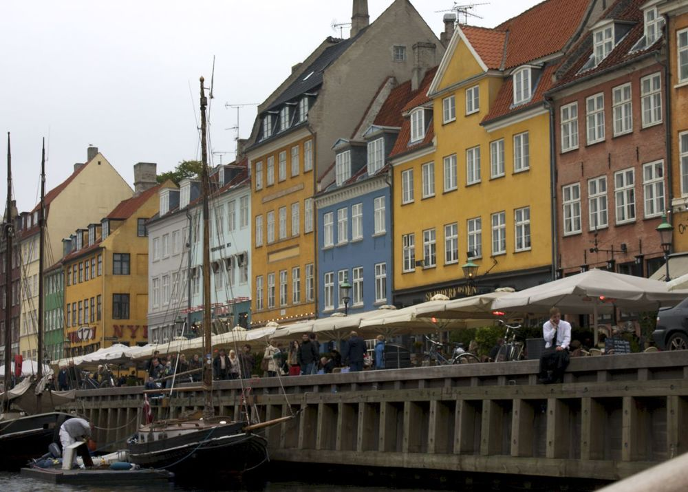 Colourful townhouses along the Nyhavn canal