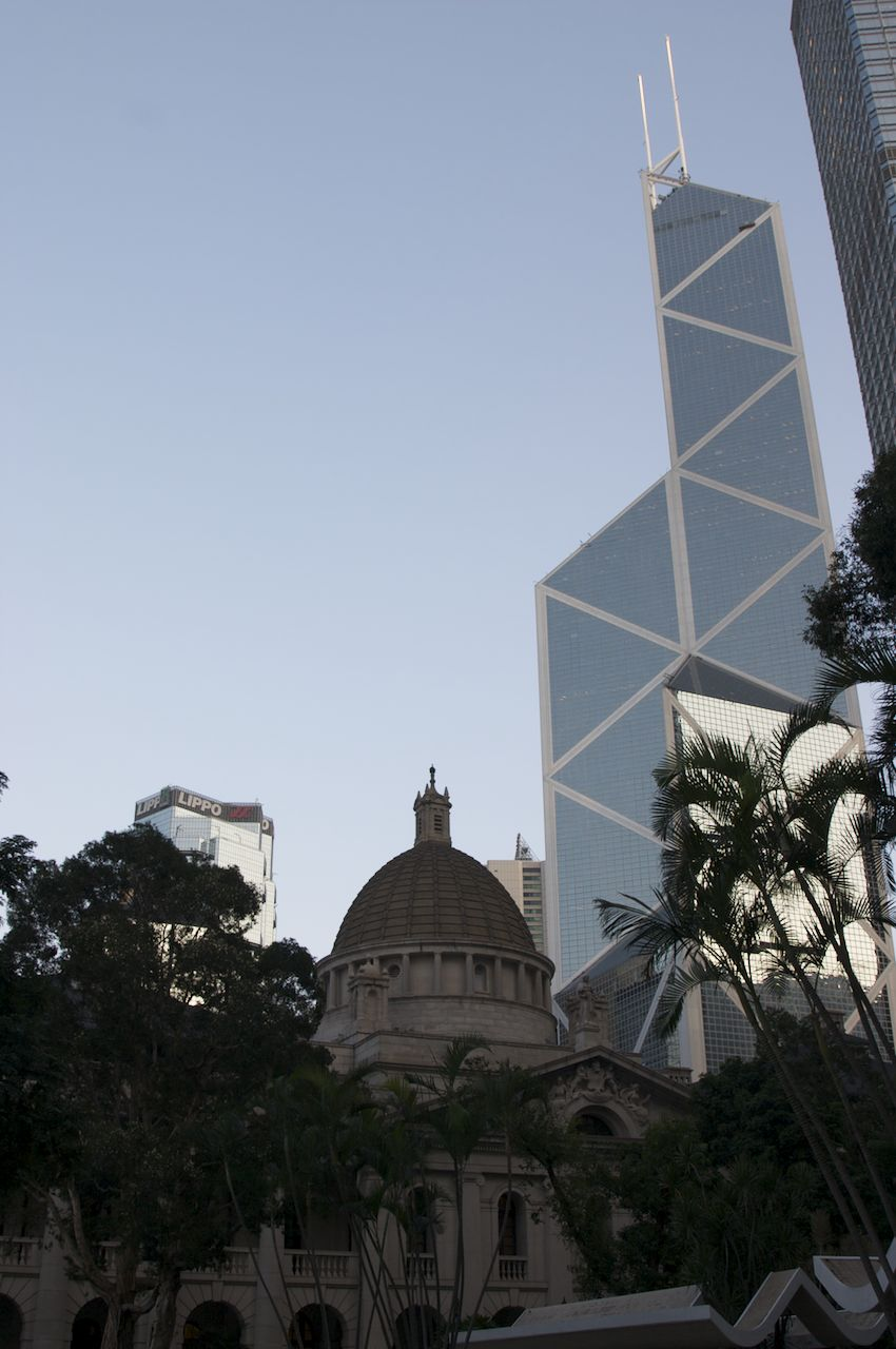 St. John's Cathedral and the Bank of China Tower