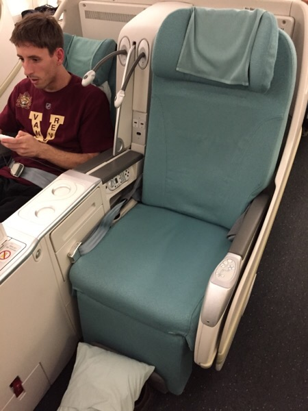 Business class upgrades for no reason. You don't see that on Air Canada!