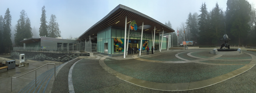 The new entrance at the Vancouver Aquarium