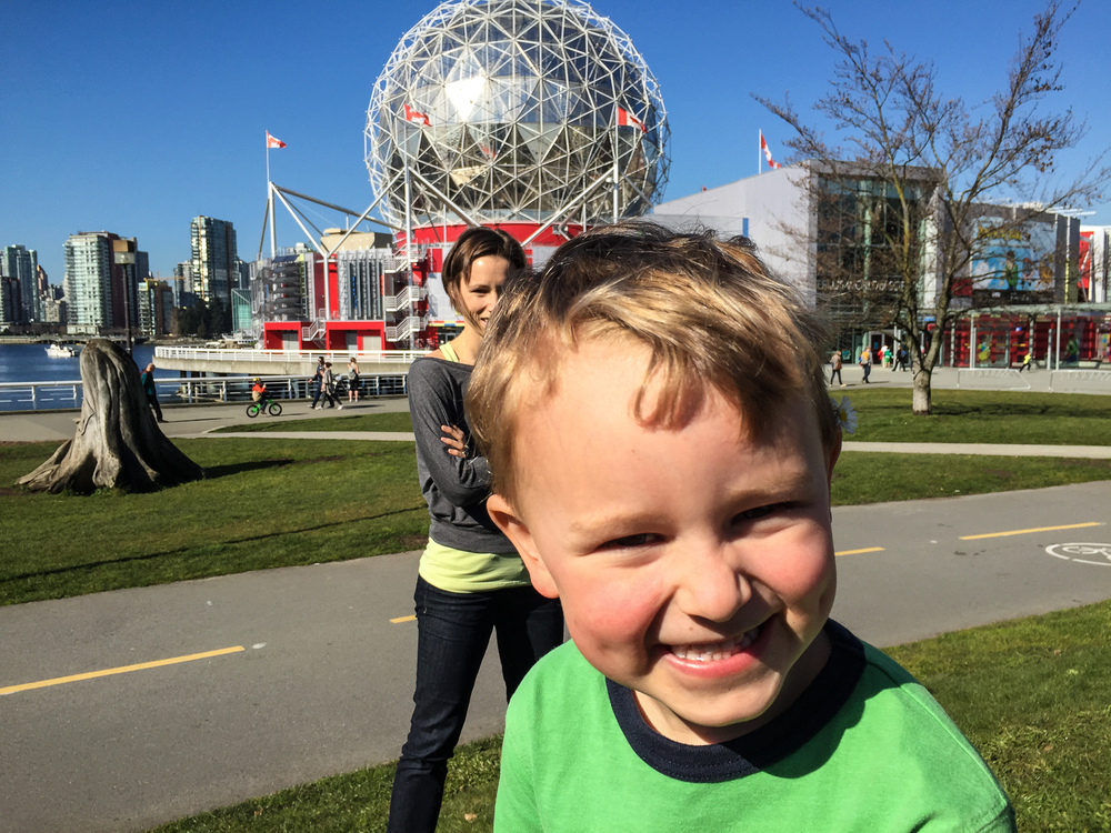 Ethan and Tammy outside Science World