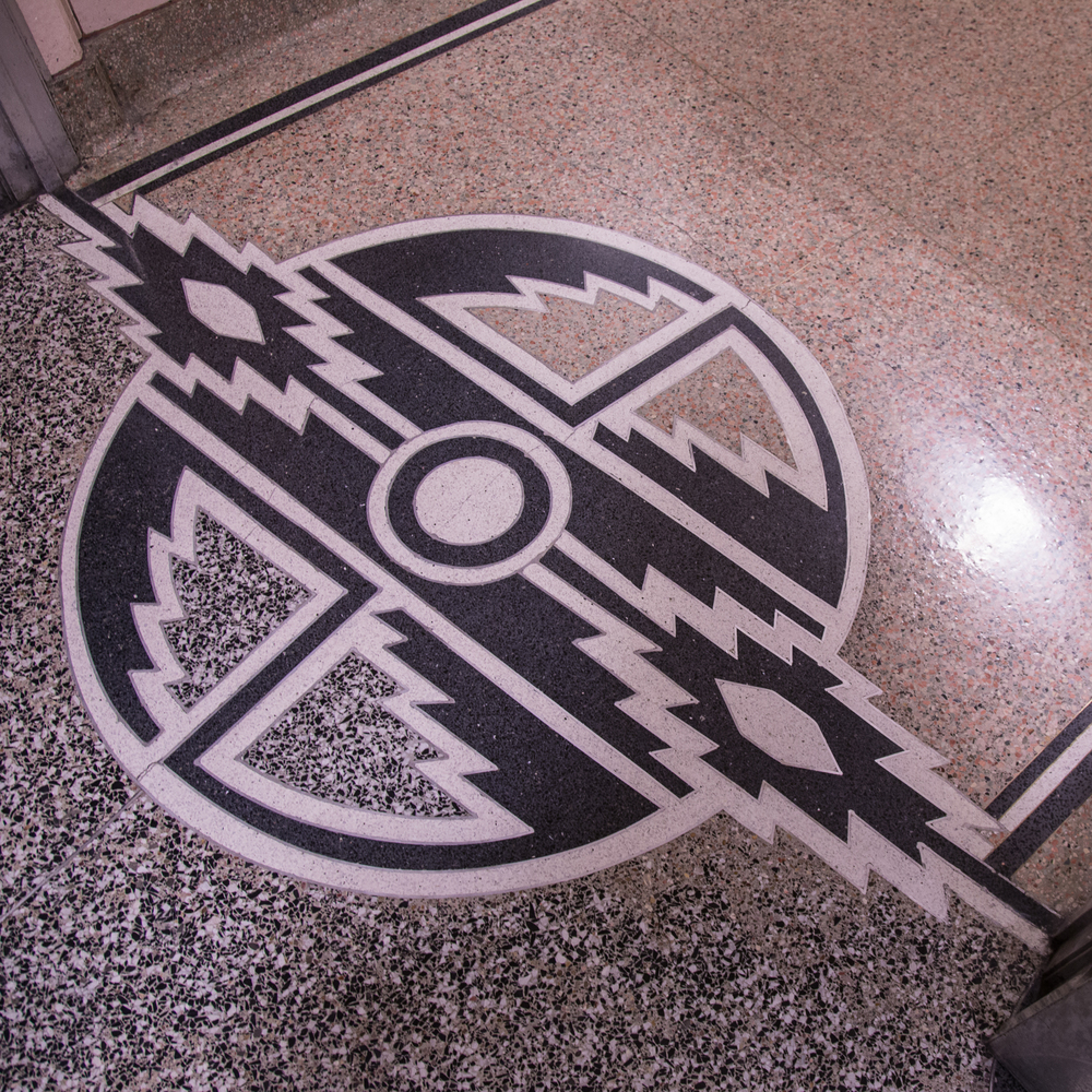 There are little Art Deco touches like this inset on the floor inside the Dam, pretty much everywhere you look.