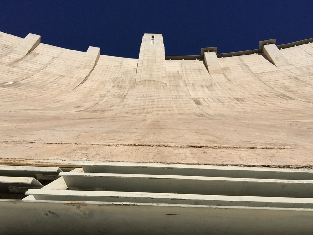 Looking up the face of the Hoover Dam, from inside the ventilation shaft. It's a good thing I didn't drop my phone...