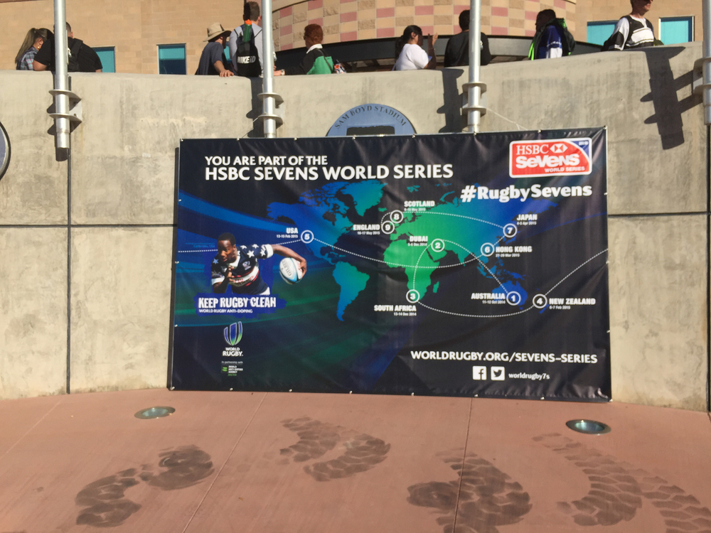 The Rugby 7s is a series that travels around. When I was in Dubai a few years ago, it was on there - wish I had thought to go to some games!