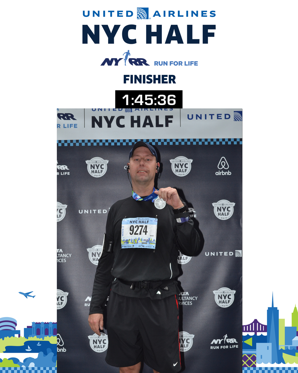 I am quite proud of my finishing time - it was a good race, and I almost hit my ambitious 1:45 goal.
