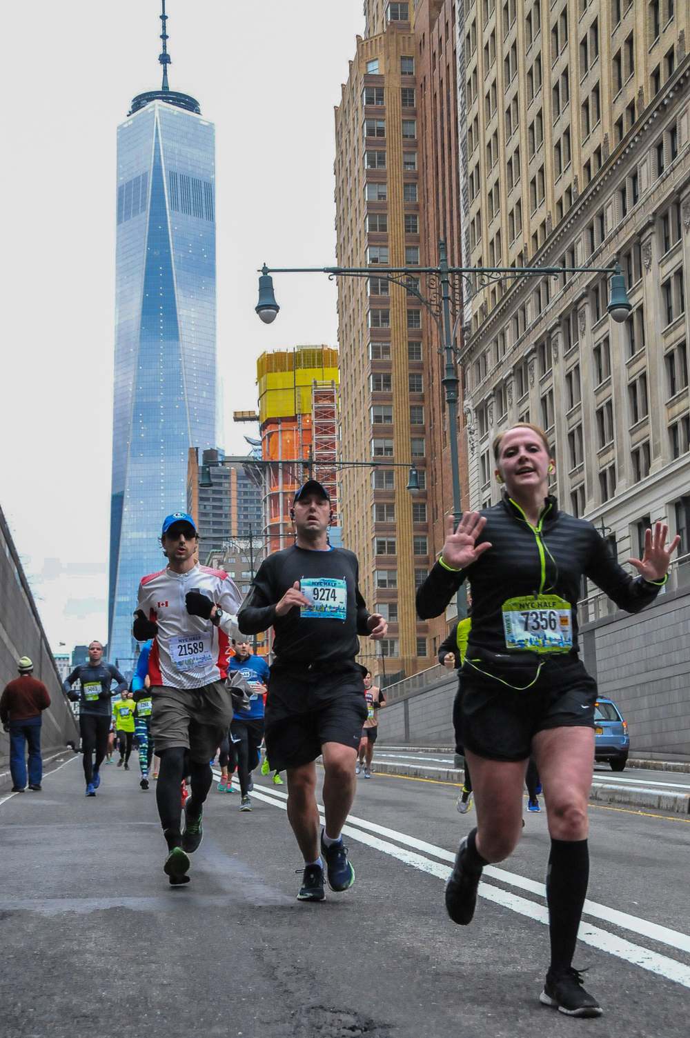 Almost done - running in the shadow of the new World Trade Center