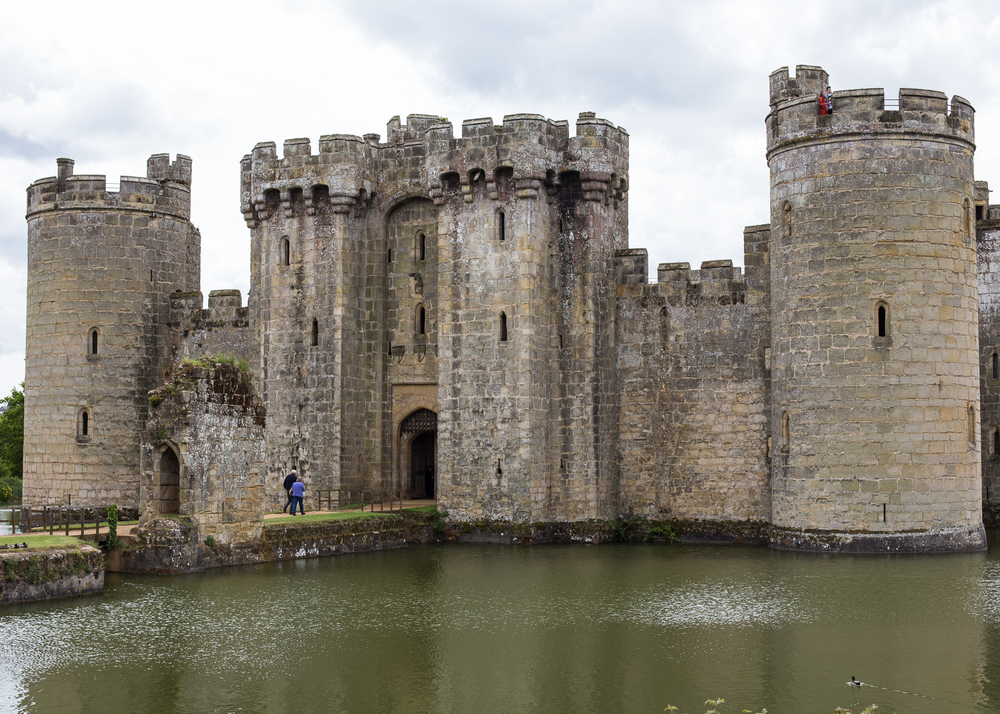 The front entrance to Bodiam Castle.